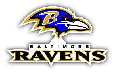 Baltimore Ravens NFL Football Logo Combo Sticker Decal - 3'', 5'', 6'' or 8'' (Baltimore Ravens Dekorationen)
