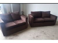 Chocolate fabric 3 + 2 seater sofa couch suite CAN DELIVER