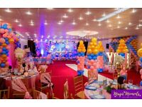 Full Wedding Management Service / Venue hire / Hall Hire / Photography services / Catering