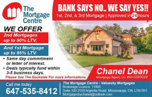 We offer 2nd mortgages up to 90% LTV And 1st Mortgage up to 85%