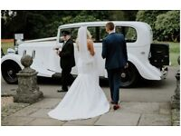 Stunning sincerity bridal wedding dress with belt included size 6 8