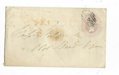 1855 Great Britain 1d PINK 842 Canceled Cover