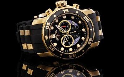 Invicta Men's 48mm Scuba Master Of The Ocean Chronograph 18K Gold IP Watch