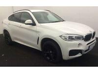White BMW X6 3.0 Black Alloys M Sport 2015 Auto FROM £175 PER WEEK!