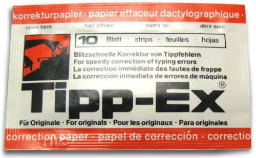 TYPEWRITER TIPP- EX CORRECTION PAPER 10 STRIPS TIPPEX 1 PACKET CORRECTION TAPE