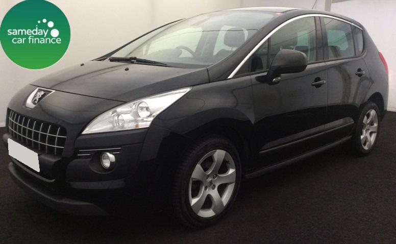 £129.60 PER MONTH BLACK 2012 PEUGEOT 3008 1.6 ACTIVE DIESEL AUTOMATIC