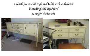 French provincial style end tables