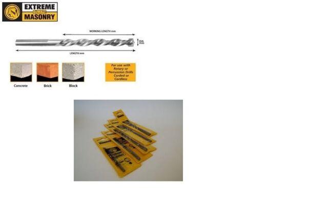 DEWALT MASONRY EXTREME BITS 5MM -10MM DT6672-DT6685 STRAIGHT SHANK PRICE PER BIT