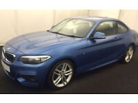 Blue BMW 220 coupe 2.0TD Auto 2015 d M Sport FROM £72 PER WEEK!