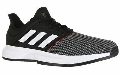Adidas GameCourt Mens Tennis Shoe CG6334 Black/White/Shock Red Size - 11.5 / 13  ()