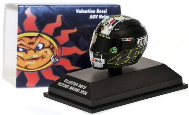 Minichamps Valentino Rossi Helmet - MotoGP Motegi 2008 1/8 Scale