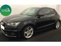 FROM £195.39 PER MONTH BLACK 2011 AUDI A1 1.4 TFSI S LINE 3 DOOR PETROL AUTO