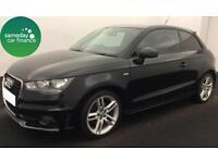 £180.51 PER MONTH BLACK 2011 AUDI A1 1.4 TFSI S LINE 3 DOOR PETROL AUTO