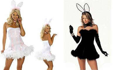 NEW WOMENS LADIES SEXY PLAYBOY BUNNY FANCY DRESS COSTUME  OUTFIT EASTER (Playboy Bunny Kostüm)