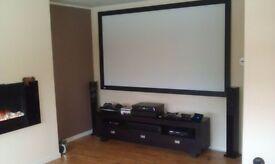 "Fixed Projector Screen 102"""