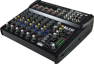 - NEW Alto Zephyr 8 Channel Compact Audio Mixer w/ Digital Effects Preamp