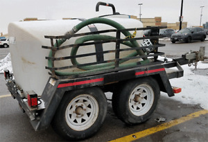 500 Gallon Water Tank Trailer Mounted Pressure Washer