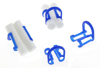 Dental Disposable Cotton Roll Holders Helps Isolate Teeth Blue - 100 Pcs Per Bag