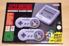 NINTENDO SNES CLASSIC MINI BRAND NEW UNOPENED