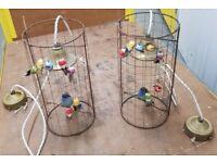2 x La Volière Bird Cage Light Lamp by Mathieu Challières @£75 each