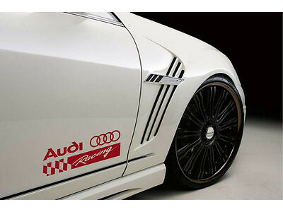 AUDI RACING A4 A5 A6 A8 Q3 Q5 Q7 TT RS4 RS5 S4 Decal sticker emblem logo RED