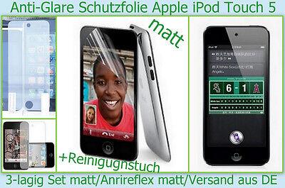 Anti reflex glare matt Display Schutz Folie iPod Touch 5G 5 Gen 3-lagig Set NEU (Ipod Touch 5 Display-schutzfolien)