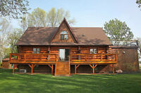 Luxury Log Home - Weekly Rental - NEW LISTING