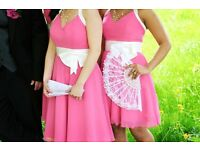 Authentic Alfred Angelo Pink / Fuchsia Dress - Size UK 10 - EXCELLENT CONDITION, WORN ONCE
