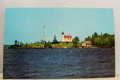 Michigan MI Copper Country Keweenawland Harbor Light House Postcard Old Vintage  Copper Harbor Michigan