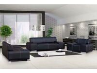 Modern Faux Leather 3 + 2 Seater Sofa & Armchair