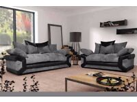 BRAND NEW SOFA DINO CORNER FABRIC LEATHER 3+2 SEATER ***1 YEAR WARRANTY***