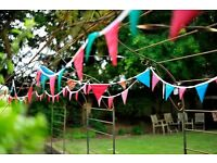 Wedding & Party Bunting For Hire £70 for all 88m or £1 per meter