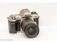 Nikon F 80 - SLR camera - 35mm - Silver, With AF Nikkor 28-100mm Lens