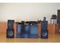 2x bass bin dj speakers