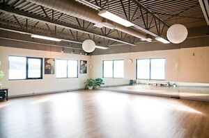 Beautiful studio for group movement classes & personal training!