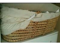Moses basket with free baby sleeping bag