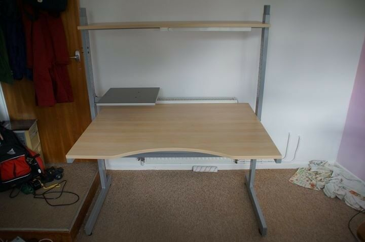 Ikea jerker desk work station in liskeard cornwall gumtree