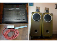 Powered Mixer FBT 702 DE 16 channels with Connection box + Hand-made 3-way speakers