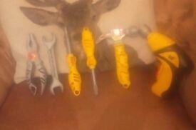 Child's 6 piece toy JCB set