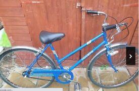 Ladies Triumph Vintage Hybrid Bicycle Fully Serviced 19'' Frame