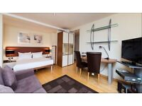 AVAILABLE NOW! Luxurious & bright studio flat in South Kensington.GYM/SPA. CONCIERGE. INTERNET. TV.