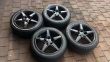 "17"" Alloy Wheels Tyres 95% Tread. 235 45 17 5x114.3 Ford Toyota Glen Waverley Monash Area Preview"