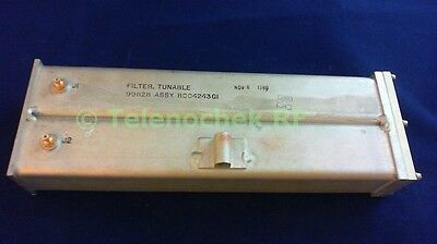 Uhf Rf Tunable Bandpass Filter Bpf 107-160 Mhz 500khz Bw Power 15watt Data