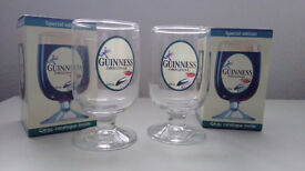 Pair of Guiness glasses