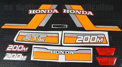 1984 84 Honda 200M Atc Vintage Decals Sticker Trike Kit 10Pc Graphics Atv