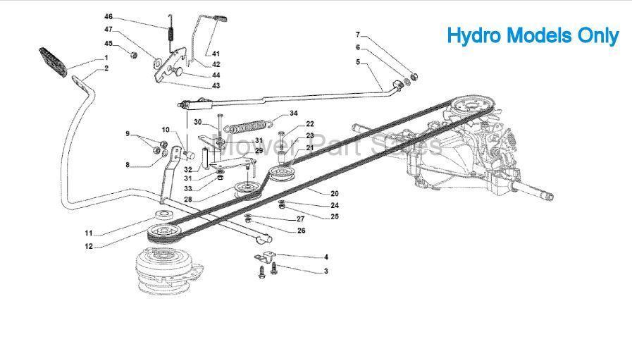 Hydro Transmission Drive Belt Mountfield 1538H, SD98