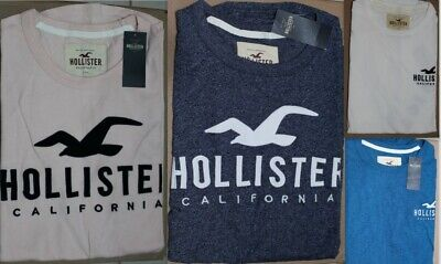 New HOLLISTER Men Logo applique Long sleeve tee t-shirt By Abercrombie