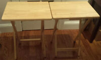 * Solid Wood Side Tables / TV Tables (2) *