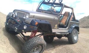 Lot de pieces de Jeep Wrangler YJ à vendre