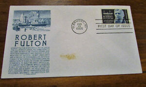 1965 Robert Fulton 5 Cent First Day Cover Kitchener / Waterloo Kitchener Area image 1